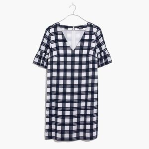 Madewell bell sleeve dress in Leighton plaid